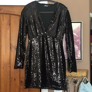 Dresses & Skirts - Black Sequin Dress from Urban Outfitters